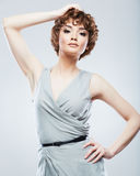 Fashion model with short hair . Stock Photography