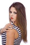 Fashion model showing acrylic fingernails royalty free stock images