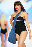 Fashion model shows bag from Benvenuti Stock Image