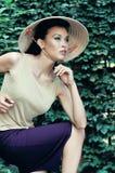 Fashion model shows progress Stock Image