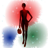 Fashion model silhouettes Royalty Free Stock Photo