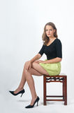 Fashion model sitting Royalty Free Stock Photography