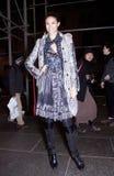 Fashion model smiling Street Style during Fashion Week Royalty Free Stock Image