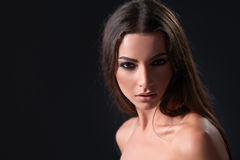Fashion model with smokey makeup Royalty Free Stock Photography