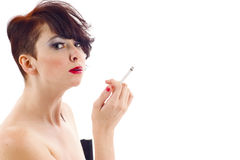 Fashion Model Smoking Stock Photos