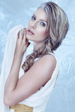 Fashion model with snow make-up Stock Photography