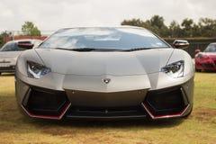 Fashion model sport car Lamborghini. Modern vehicle style. Hi-tech. Stock Photo