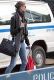 Fashion model street style during fashion week Royalty Free Stock Image
