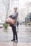 Fashion model Street Style during Fashion Week Royalty Free Stock Photo