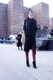 Fashion model Street Style during Fashion Week Stock Images