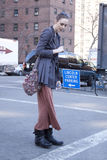 Fashion model Street Style during Fashion Week Stock Photos
