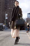 Fashion model street style in New York Stock Photos