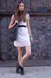 Fashion model street style in New York Stock Photography