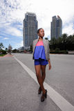 Fashion model on the streets Royalty Free Stock Photos