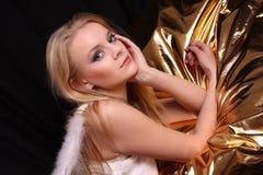 Fashion model in studio Stock Photo