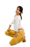 Fashion model in studio Royalty Free Stock Image