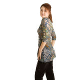 Fashion model in studio Royalty Free Stock Photos