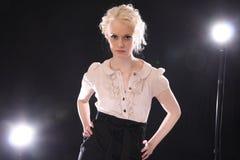 Fashion model in studio Stock Photography