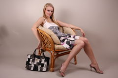 Fashion model in studio Stock Photos