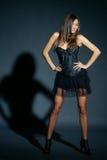 Fashion model studio portrait Royalty Free Stock Image