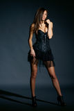Fashion model studio portrait Royalty Free Stock Photo