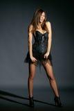 Fashion model studio portrait Royalty Free Stock Images