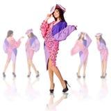Fashion model in a stylish dress Stock Image