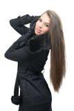 Fashion model - stylish winter clothing Royalty Free Stock Photo