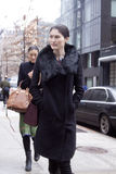 Fashion model Sui He street style in New York Stock Photo