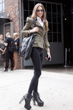 Fashion model Summer Street Style during Fashion Week Royalty Free Stock Photo