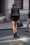 Fashion model Summer Street Style during Fashion Week Royalty Free Stock Photos
