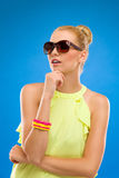 Fashion model in sunglasses. Royalty Free Stock Image