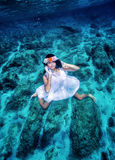 Fashion model underwater Royalty Free Stock Photography