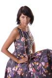 Fashion model in vintage dress Stock Photo