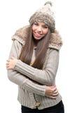 Fashion model - warm winter clothing Stock Image