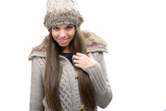 Fashion model - warm winter clothing Stock Photography