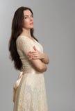 Fashion model wearing dress Stock Photo