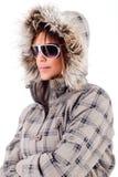 Fashion model wearing sunglasses Royalty Free Stock Photos