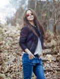 Fashion model wearing sunglasses - outdoor portrait Stock Photo