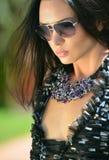 Fashion model wearing swimgerie Stock Image
