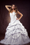 Fashion model wearing wedding dress Royalty Free Stock Photography