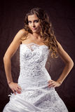 Fashion model wearing wedding dress Stock Photo
