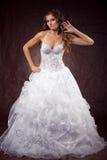 Fashion model wearing wedding dress Stock Image