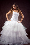 Fashion model wearing wedding dress Stock Photos