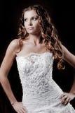 Fashion model wearing wedding dress Stock Photos