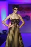Fashion model wears dress from Nenad Sekirarski collection Stock Image