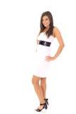 Fashion model on white Stock Photos
