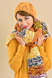 Fashion model in winter clothing Stock Photo