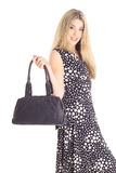 Fashion Model With Purse Stock Photography