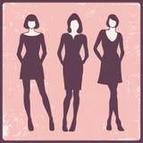 Fashion models. Silhouettes of fashion models,  illustration Royalty Free Stock Photography